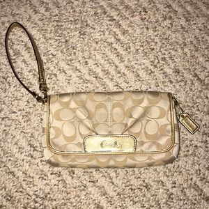 COACH wristlet with card slots